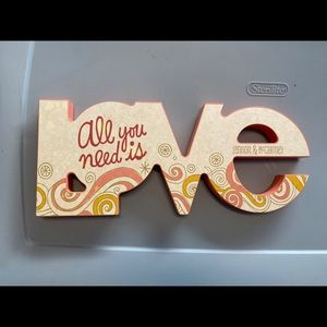 """All you need is love decor sign 16""""x 6.5"""""""